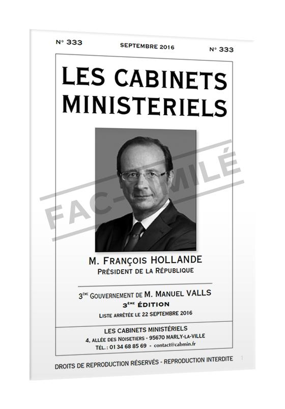 Les cabinets minist riels sommaire - Cabinet de la presidence de la republique ...